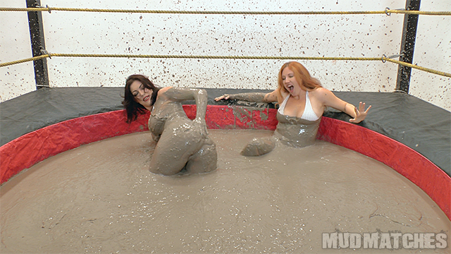 Kym wipes the mud off of her ass