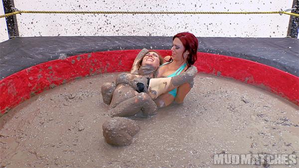 sarah brooke samantha grace mud wrestling leg lock