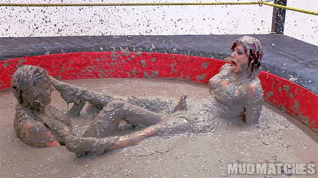 Samantha Grace Sarah Brook cunt busting while mud wrestling